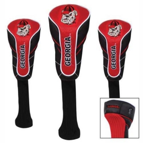 Georgia Bulldogs Nylon Golf Headcovers