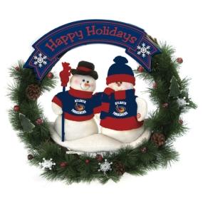 Atlanta Thrashers Snowman Wreath