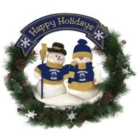 Edmonton Oilers Snowman Wreath