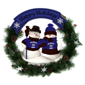 Los Angeles Kings Snowman Wreath