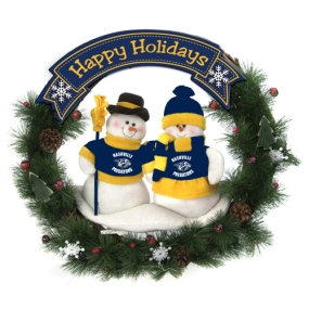 Nashville Predators Snowman Wreath