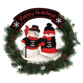 Ottawa Senators Snowman Wreath