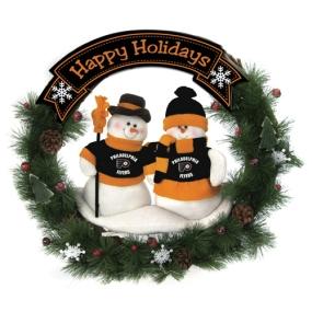 Philadelphia Flyers Snowman Wreath