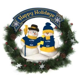 St. Louis Blues Snowman Wreath