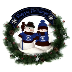 Tampa Bay Lightning Snowman Wreath