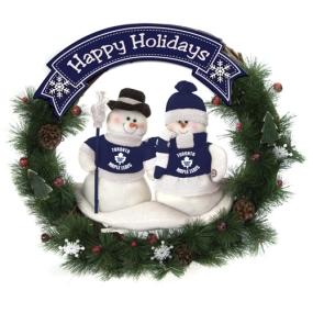 Toronto Maple Leafs Snowman Wreath