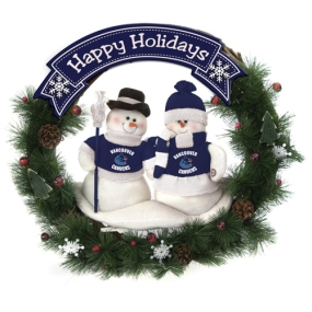 Vancouver Canucks Snowman Wreath