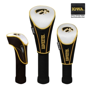 Iowa Hawkeyes Set of 3 Golf Club Headcovers