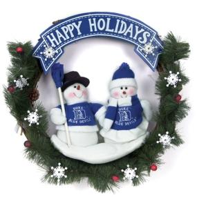 Duke Blue Devils Snowman Wreath