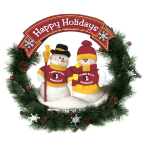 Florida State Seminoles Snowman Wreath