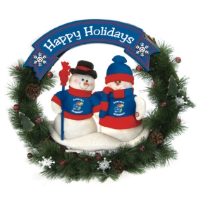 Kansas Jayhawks Snowman Wreath