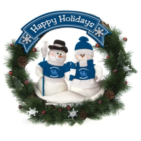 Kentucky Wildcats Snowman Wreath