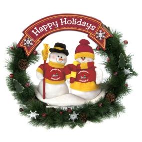Louisville Cardinals Snowman Wreath