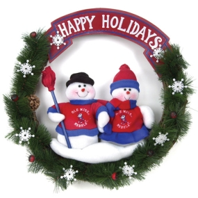 Mississippi Rebels Snowman Wreath