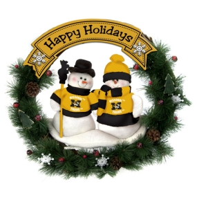Missouri Tigers Snowman Wreath