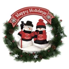 Nebraska Cornhuskers Snowman Wreath