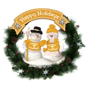 Tennessee Volunteers Snowman Wreath