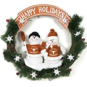 Texas Longhorns Snowman Wreath