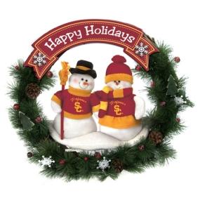USC Trojans Snowman Wreath