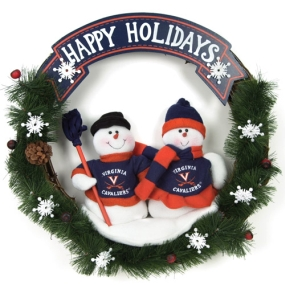 Virginia Cavaliers Snowman Wreath