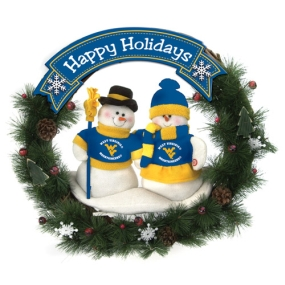 West Virginia Mountaineers Snowman Wreath