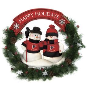 Atlanta Falcons Snowman Wreath