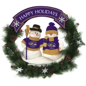 Baltimore Ravens Snowman Wreath