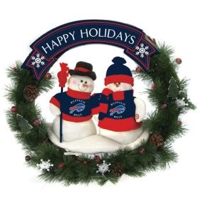 Buffalo Bills Snowman Wreath