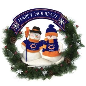 Chicago Bears Snowman Wreath