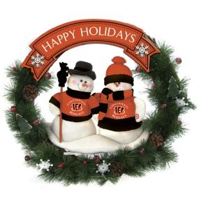 Cincinnati Bengals Snowman Wreath