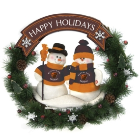 Cleveland Browns Snowman Wreath