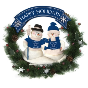 Dallas Cowboys Snowman Wreath