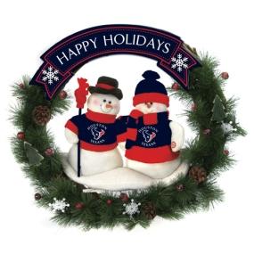 Houston Texans Snowman Wreath