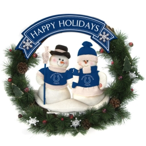 Indianapolis Colts Snowman Wreath