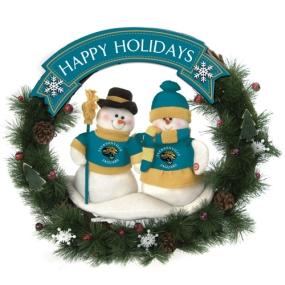 Jacksonville Jaguars Snowman Wreath