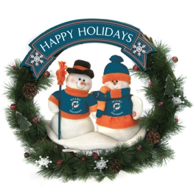 Miami Hurricanes Snowman Wreath