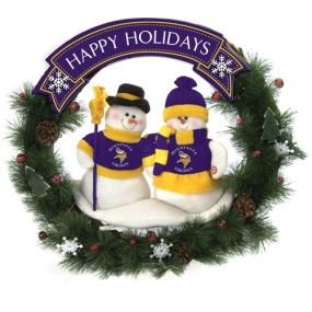 Minnesota Vikings Snowman Wreath