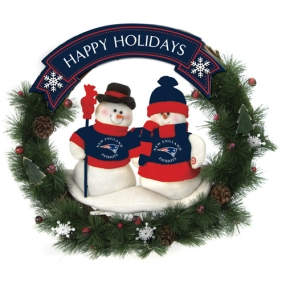 New England Patriots Snowman Wreath