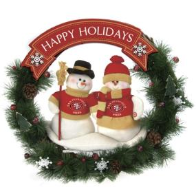 San Francisco 49ers Snowman Wreath