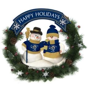 Saint Louis Rams Snowman Wreath