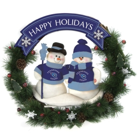 Tennessee Titans Snowman Wreath