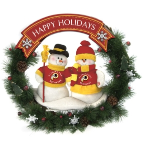 Washington Redskins Snowman Wreath