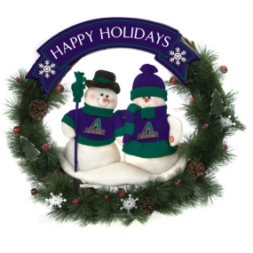 Arizona Diamondbacks Snowman Wreath