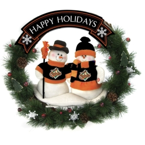 Baltimore Orioles Snowman Wreath