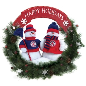 Boston Red Sox Snowman Wreath