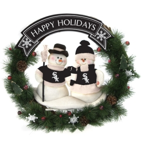 Chicago White Sox Snowman Wreath