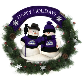 Colorado Rockies Snowman Wreath