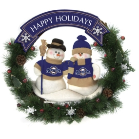 Milwaukee Brewers Snowman Wreath