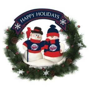 Minnesota Twins Snowman Wreath
