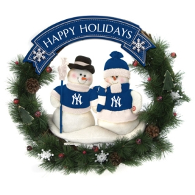 New York Yankees Snowman Wreath